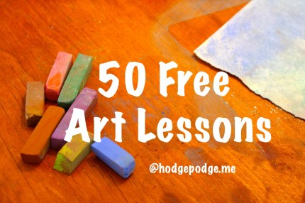 50 Free Art Lessons at hodgepodge