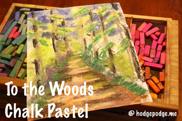 Henry David Thoreau: To The Woods Chalk Pastel